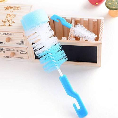 Allaitement au biberon Baby Soft Nipple /éponge Bristle Brosse de nettoyage pour avec poign/ée longue couleur al/éatoire Sunlera