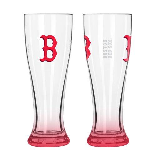 MLB Boston Red Sox Elite Pilsner Set (2-Pack), 16-Ounce