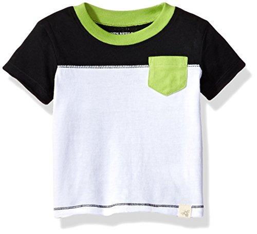Burt's Bees Baby - Baby Boys' T-Shirt, Short Sleeve Tee Under Shirt, 100% Organic Cotton, Cloud, 3-6 Months