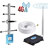 AT&T Cell Phone Signal Booster 4G LTE Band12/17 US Cellular T-Mobile 700Mhz FDD ATT Cell Signal Booster AT&T Cell Phone Booster Mobile Signal Booster AT&T Cell Phone Signal Amplifier with Antennas Kit
