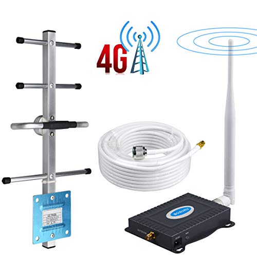 AT&T Cell Phone Signal Booster Band12/17 T-Mobile 700Mhz FDD ATT Cell Signal Booster Amplifier AT&T Cell Phone Booster Repeater Mobile Signal Booster BOSURU with Whip+Yagi Antenna Kits for Home Use (And Cell Phones T At)