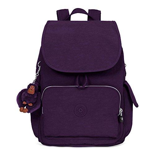 Kipling City Pack Medium Solid Backpack, Deep Purple