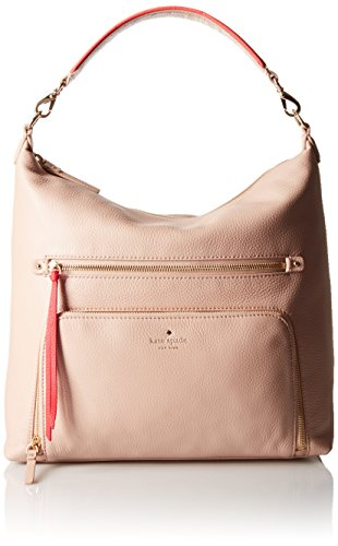 kate spade new york Cobble Hill Lizzie Shoulder Bag, Pressed Powder/Geranium, One Size by Kate Spade New York