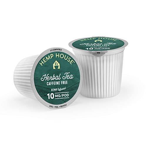 41 AC%2Bb0WlL - Hemp House Hemp Infused Herbal Tea, 16ct. Gourmet Fair Trade Rooibos Tea Packed in Recyclable Single Serve Pods, K-cup compatible including 2.0
