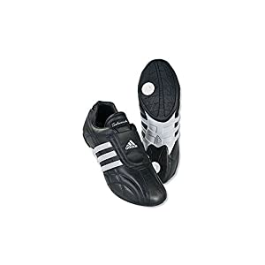 ADIDAS SM II SHOES - black w/white stripes - 7.5