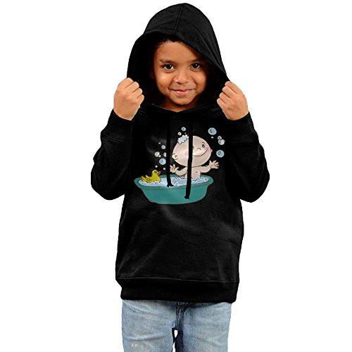 ZheuO Boys & Girls Toddler Baby Fashion Hoodie Hoodies 2 Toddler Black