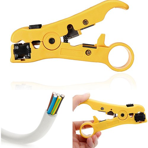 Cable Cutter, Maserfaliw Rotary Coax Coaxial Cable Wire Cutter Stripping Tool RG59 RG6 RG7 RG11 Stripper, Holiday Gifts, Home Essential Tools Supplies. from Maserfaliw