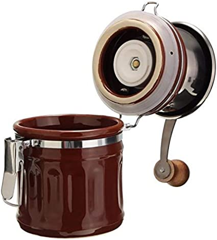 color : Black WHZJXB-ZYP New Styling Retro Stainless Steel Ceramic Manual Coffee Bean Grinder Nut Mill Hand Grinding Tool