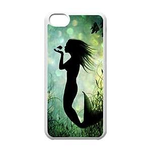 GGMMXO Mermaid Shell Phone Case For Iphone 5C [Pattern-1]