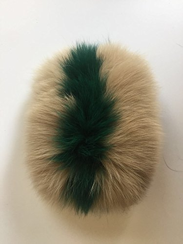 Multicolor Fur Women Decoration Real Khaiki green Fox qmfur Slides for Accessories Slippers qzt6qfxw