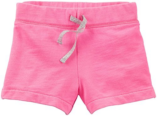 Carter's Little Girls' French Terry Shorts (Toddler/Kid) - Bright Pink - - Shorts Bright Terry