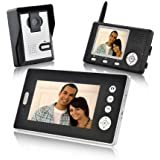 Safe Double Vision Guardian - Ideal Wireless Video Door Phone with Dual Receivers (CMOS Sensor) Security Tracer system New