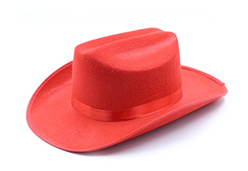 [Child's Cowboy / Cowgirl Felt Costume Kids Hat - Play Kreative TM (Red)] (Country Girl Costumes For Kids)
