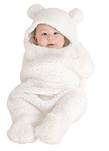 Newborn Baby Boys Girls Cute Cotton Plush Receiving Blanket Sleeping Wrap Swaddle by Pinleck (Image #5)