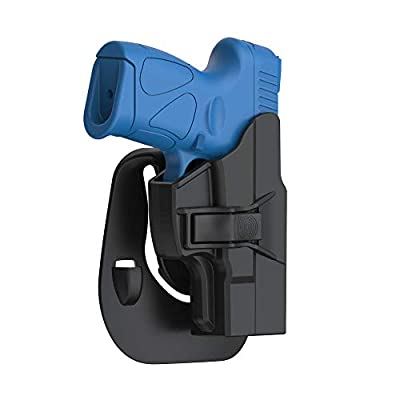 Taurus PT111 G2 G2C Holster, Tactical Outside Waistband Paddle Holster Also Fits Taurus Millennium G2C G2 PT111 PT132 PT138 PT140 PT145 PT745 with Trigger Release Adjustable Cant, Right-Handed, Black
