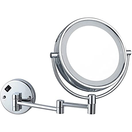 Glimmer Nameeks AR7705 CR 3x LED Light Wall Mounted Makeup Mirror 5 L X 8 W