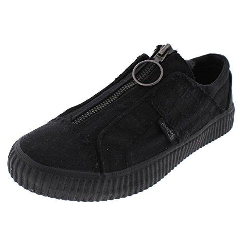 Blowfish Carter Womens Canvas Classic Fashion Sneaker Shoe Black Size 5.5