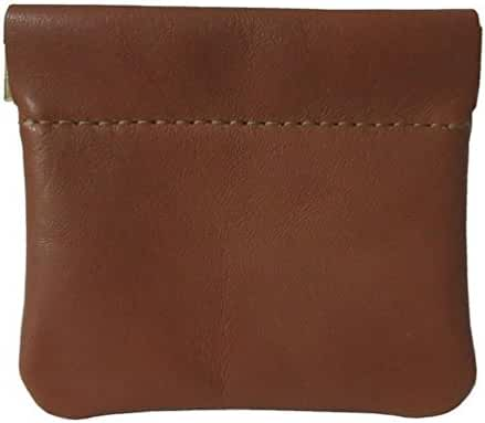 Classic Leather Squeeze Coin Purse change Holder For Men By Nabobb