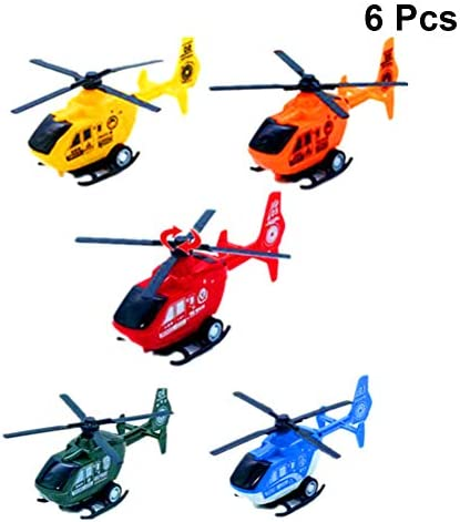 2pcs Pull Back Helicopter Toy Small Rotating Propeller Airplane Kids Toy Gift/_ji