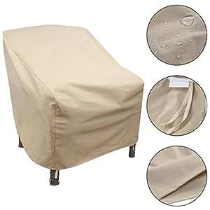 """Cosway Espalda alta silla de jardín Muebles de almacenamiento impermeable contra el polvo, Fits Backs 27""""H [nos Stock]"""