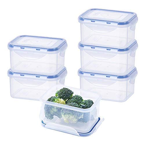 EASYLOCK BPA-Free Plastic Food Containers with Lids, Clip Lid Food Storage...