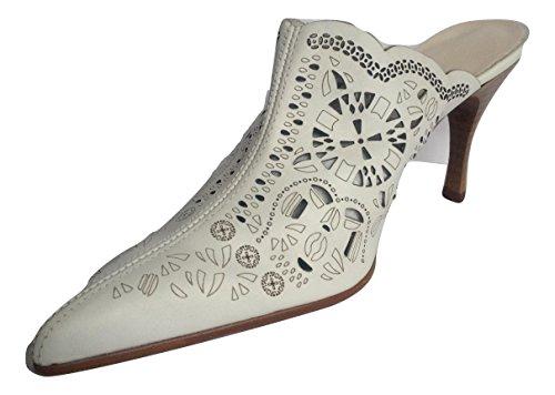 Piel Napa Envejeida Blanco - Sandalias de vestir de Piel para mujer blanco blanco, color blanco, talla 38 EU