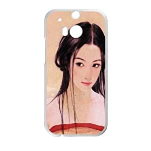 HTC One M8 Cell Phone Case White ae19 chen shu fen mischievous cupid SLI_493868