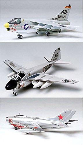 3 Tamiya Model Plane Bundle – Grumman A-6A Intruder, L.T.V. A-7A Corsair II and MiG-19 Farmer
