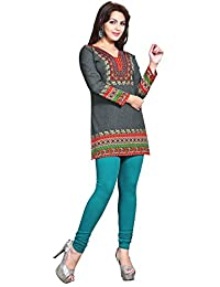 Maple Clothing Womens Printed Kurti Tunic Top Short Blouse Indian Clothes