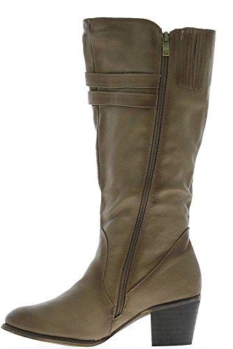 Stivali donna taupe tacco 6cm