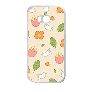 Creative Flower And Bird Cell Phone Case For HTC M8