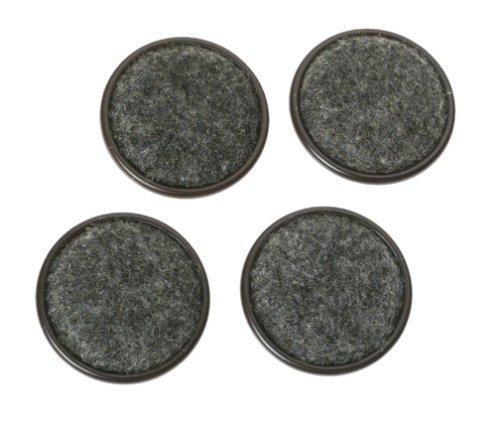Shepherd Hardware 9090 1-1/4-Inch Carpet Base Furniture Cups, 4-Pack