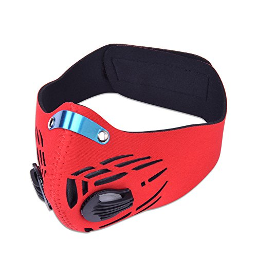 Dust Face Mask anti Woodworking Fume Pollen Chemical Paint PM2.5 Air Safety Filter for Outdoor Activities (Red)