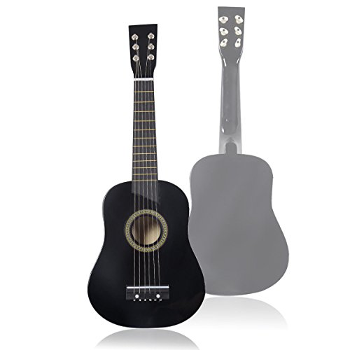 """Price comparison product image Goplus 25"""" Beginners Kids Acoustic Guitar 6 String with Pick Children Kids Gift Black"""
