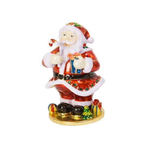 Santa Hinged Jewelry Box
