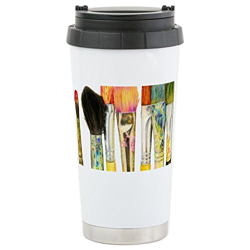 CafePress Artist Paint Brushes 02 Stainless Insulated Tumbler