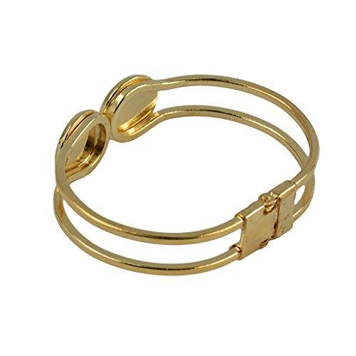 Cuir 2pcs Non Or Cabochon Lunette De Forme Bracelet En Rond Cadre Laiton brand WOBHT