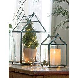 Glass Greenhouse Lantern, Small