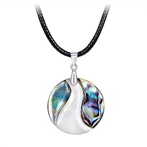 - FRCOLT Crystal Heart Necklace For Women Romantic Fashion Classic Luxury Rhinestones Heart Shape (A, shell)