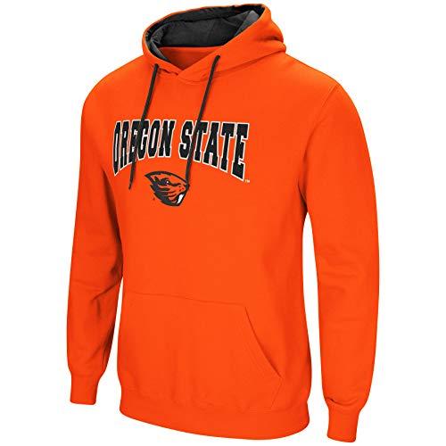 Colosseum NCAA Men's-Cold Streak-Hoody Pullover Sweatshirt with Tackle Twill-Oregon State Beavers-Orange-XL