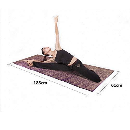 XSYYQYLL Alfombrilla de Yoga de Yute Antideslizante PVC ...