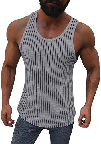 Litetao. Men's American Flag Design Cotton Blend Sleeveless Tank Tops Muscle Fitness Bodybuilding Tank Top Skull Vest