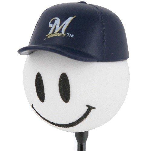 Milwaukee Brewers Baseball Cap Antenna Topper (Brewers Mlb Milwaukee Car)