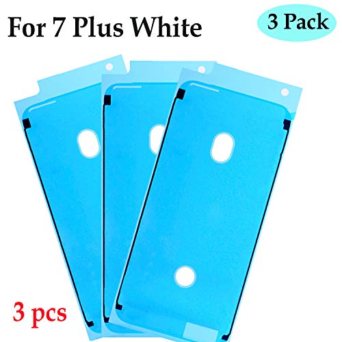 Ogodeal Screen Adhesive Waterproof Pre-Cut Seal Strips Stickers for iPhone 7 Plus White 2 Pack