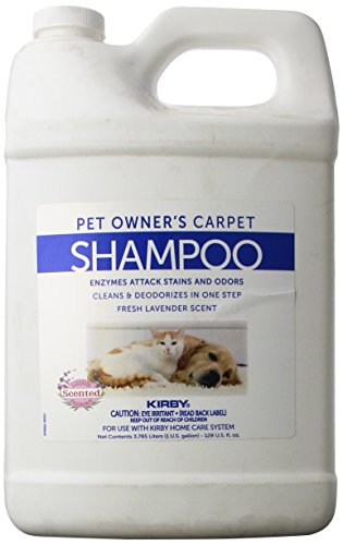 KIRBY Genuine 237507S Pet Owners Foaming Carpet Shampoo (Lavender Scented) Use with SE2 Sentria 2 G11, Sentria SE G10 G9, DE G8 Diamond Edition, ULTG G7, G6 G2001, G5, G4, G3,Legend, Heritage Tradition, Classic (1 Gallon) (Best Carpet Cleaner For Pet Owners)