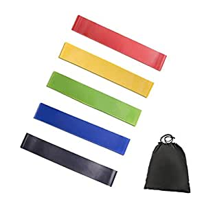 5PCS/Set Resistance Band fitness 6Levels Latex Gym Strength Training Rubber Loops Bands Fitness CrossFit Equipment Yoga Exercise Pull Rope Elastic Bands for Fit