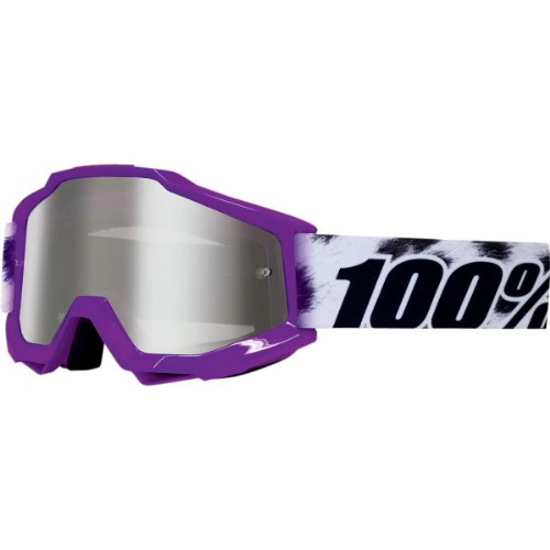 (100% Accuri Youth Goggles Eyewear - Cheetah/Animal Print/Mirror Silver / One Size)