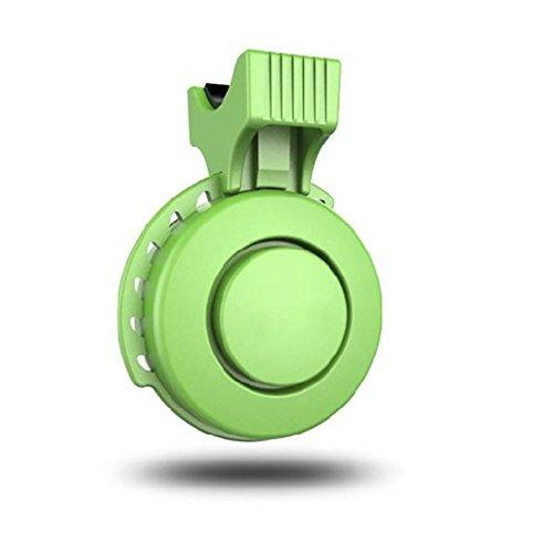 OWIKAR Electric Bike Horn Bike Bells 120 db Invisible Bicycle Bell Road Bike USB Mini Cycling Handlebar Alarm Loud Horn Bells Ring Fit for 22-31.8mm Mountain Bike/ Road Bike/BMX/MTB (Green)