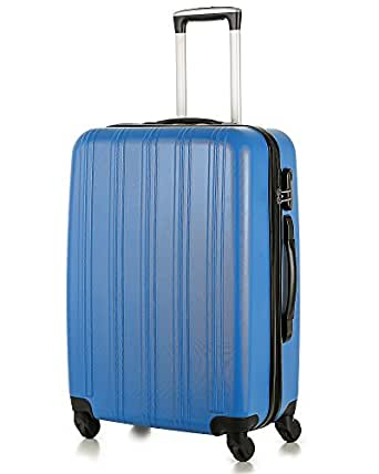 HoJax 24 Inch Eco-friendly PET Luggage Travel Suitcase With 4 Spinner Wheels Blue