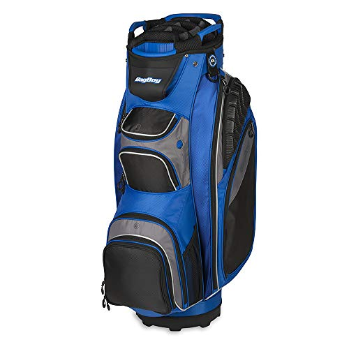 Big Driver Kids Golf Cart - Bag Boy Golf Defender Cart Bag (Cobalt/Black/Charcoal)